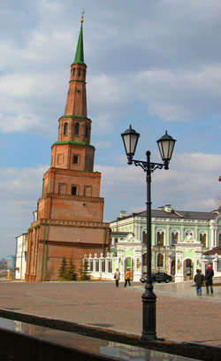 The Falling Tower of Kazan (built in 1645-1650) that is 2 meters higher than The Falling Tower of Pisa