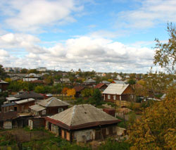 Tyumen is a capital of villages (Old part of the city)
